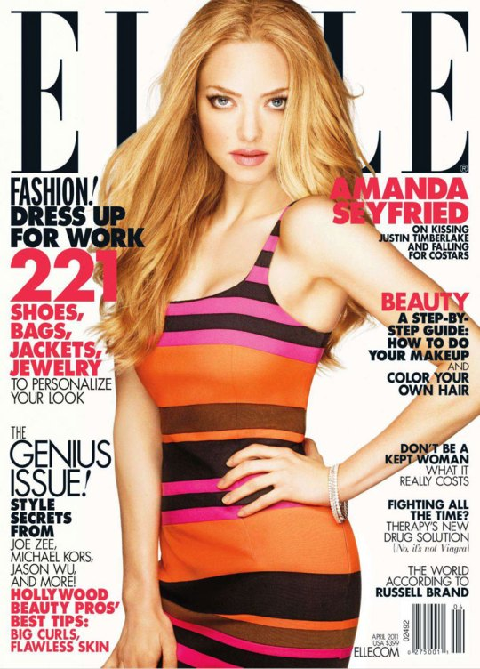 Amanda Seyfried on the cover of Elle