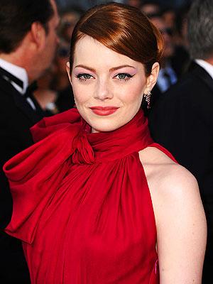 Emma Stone on the 2012 Oscars Red Carpet