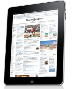 The Times on an iPad