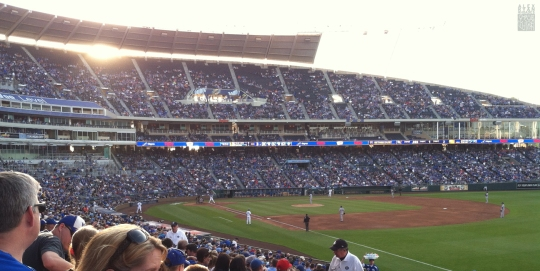 Royals game at Kauffman Stadium, Kansas City, Missouri