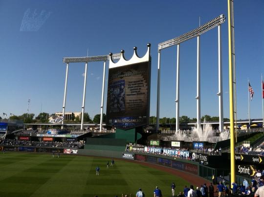 Royals game at Kauffman Stadium, Kansas City, Missouri