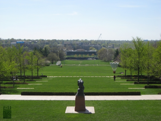 Lawn of the Nelson-Atkins Museum in Kansas City, Missouri.