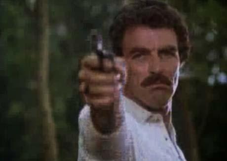 Magnum's got a gun.