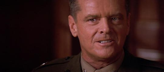 Jack Nicholson in A Few Good Men