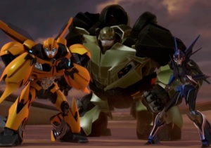 Bumblebee, Bulkhead, and Arcee