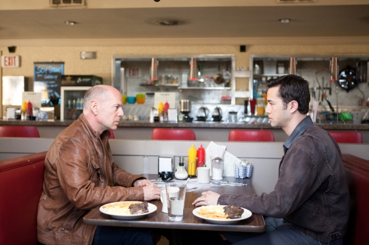 Bruce Willis and Joseph Gordon-Levitt