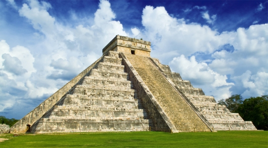 One of the Mayans' ridiculous pyramids.