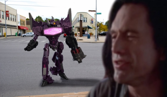Shockwave and Wiseau on the Streets