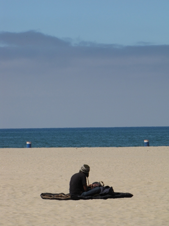 Of course, not everyone is walking on sunshine in Venice. Some people have to sleep in it.